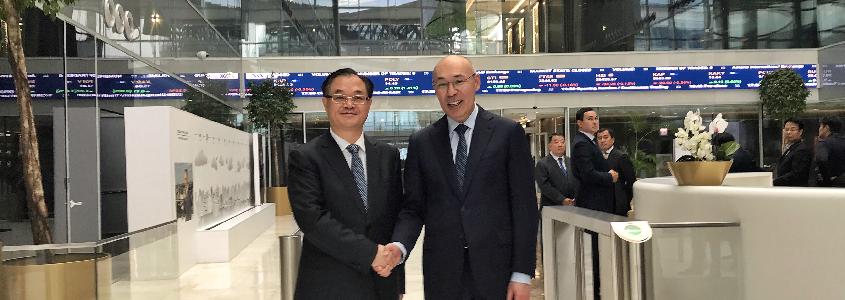 中国建设银行行长刘桂平出席阿斯塔纳国际金融中心介绍会