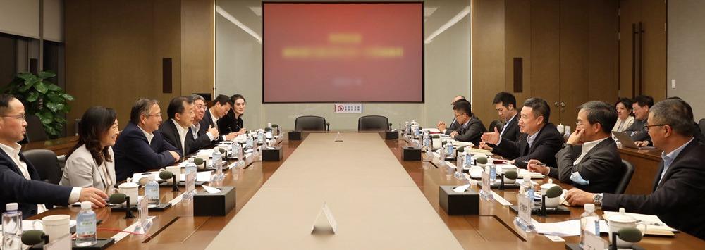 浦发银行行长潘卫东与广发证券总经理林传辉举行会谈